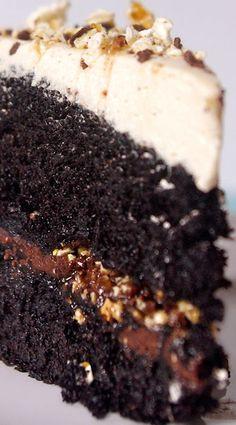 Dark Chocolate Butterscotch Crunch Cake