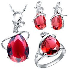 Find More Jewelry Sets Information about S925 Silver Set Wedding Zirconia Crystal Set 18k Accessories Fashion Set Red Drop Ruby Stone Jewelry Silver Drop Size 7/8/9/,High Quality jewelry fancy,China jewelry dealer Suppliers, Cheap jewelry lamp from ULOVE No.2 Fashion Jewelry Store  on Aliexpress.com