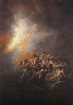 Fire at Night [1793-1794]Francisco Goya [1746 - 1828]