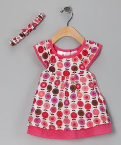 Take a look at this Pink Flower Garden Dress & Headband by Cutey Couture on #zulily today!
