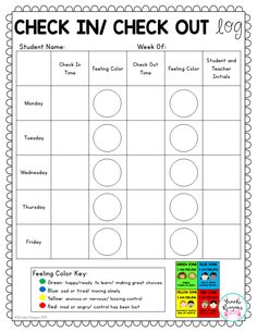 Check in/ check out positive behavior management system. Everything you need to set up your own check in/ check out system. Ideal for students that need behavior intervention to address goal setting, positive replacement behaviors, and positive adult attention throughout the school day.