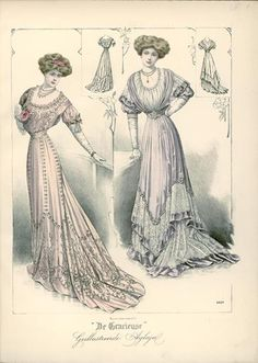 De Gracieuse, January 1908, Edwardian Fashion Plate