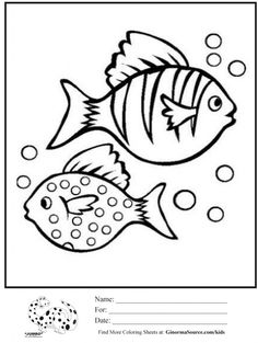 coloring pages fish bubbles - Rainbow Fish Coloring Page