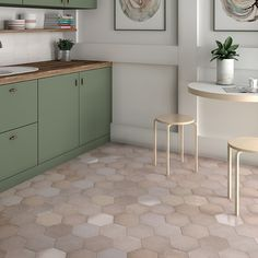 Kitchen Tile Flooring Wall Tile Tileflair How To Make Small Kitchen Feel Large With Tiles Tileflair Kitchen Tiles, Kitchen Flooring, Kitchen Design, Tile Flooring, Flooring Ideas, Heritage Rose, Hexagon Tiles, Commercial Flooring, Color Tile
