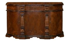 HAND PAINTED TORCHED BUFFET MEGHAN, FRESCO BROWN, SCROLLS, KOENIG COLLECTION
