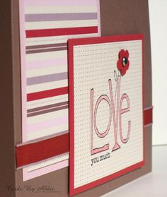 Adorable Valentines card-Handmade