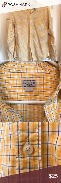 J. Crew Yellow Checked Button Down J. Crew men's button down. Only worn a few times! J. Crew Shirts Casual Button Down Shirts