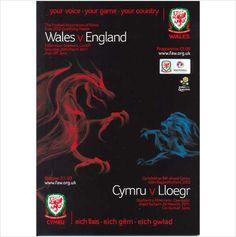 RARE PROGRAMME - Wales v England (UEFA Euro 2012 Qualifier) @ Millennium Stadium