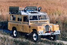 Land Rover Series IIA -- When Captain Reginald Masterson of the Scottish Irregular Cavalry Division needs a cup of Darjeeling, he drives from Cardiff to Mumbai in a Land Rover IIA.