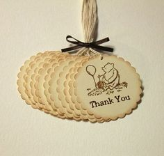 Classic Winnie the Pooh Thank You Tags by PrettyPaperCottage, $8.00
