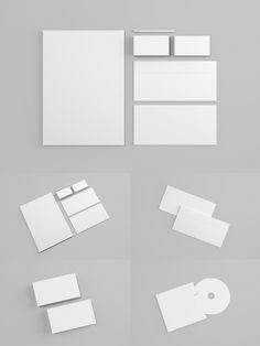 Free Stationery Mockup v1.0 (373 MB) | graphicpear.com | #free #photoshop #mockup