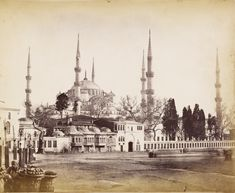 Istanbul, Sultan Ahmed Mosque, Ulsan, Ottoman Empire, Historical Pictures, Art And Architecture, Old Photos, Paris Skyline, Taj Mahal