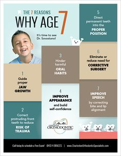 7 reasons why age 7 is the perfect time to see an orthodontist!