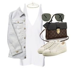 """Untitled #21168"" by florencia95 ❤ liked on Polyvore featuring Christopher Kane, Ray-Ban, Puma, Versace and ASOS"