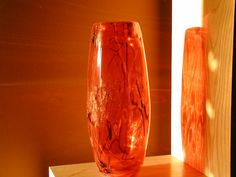 Handmade Crimson Red Murano Crystal Vase by SandECollectibles, $174.95