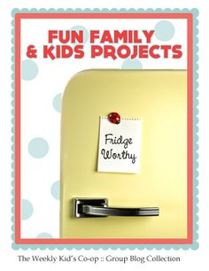 {Fridge Worthy Fridays} These two kids projects are my absolutely favorite from last week's collection. I also have a new blog find... Science Sparks. It is lovely, simply lovely. Check it all out!