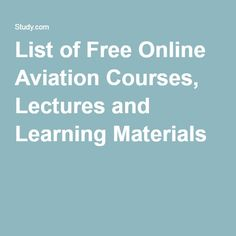 Aircraft Mechanic online college statistics courses for credit