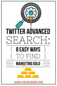 Learn 8 awesome ways to use Twitter advanced search to mine Tweets for marketing gold. We break down exactly how to use advanced search and why you should!