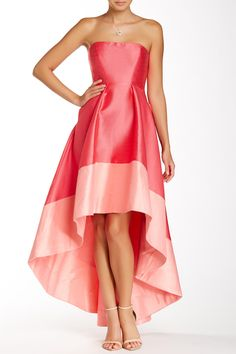 Hi-Lo Colorblock Gown by ML Monique Lhuillier on @nordstrom_rack