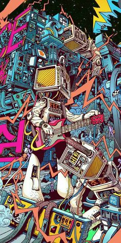 Space hardrock machine by lee juyong, via behance dope art, pop art wallpaper, Psychedelic Art, Graffiti Art, Graffiti Doodles, Behance Illustration, Illustration Art, Art Pop, Pop Art Wallpaper, Wallpaper Wallpapers, Iphone Wallpapers