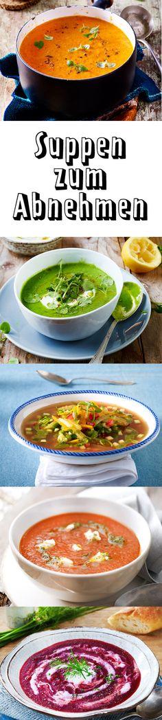 Unsere #Suppen zum #Abnehmen haben nur 200 Kalorien - schmecken aber himmlisch lecker. Ob mit Paprika, Rote Bete oder eine klassische Gemüsesuppe, mit unseren Rezepten fällt das Abnehmen leicht. #kalorienarm