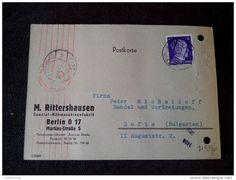 ULTRA RARE 1943 M.EITTERSHAUSEN BERLIN GG CENSORED SEAL RED STAMP 6 DEUTSCHEREICH  POSTCARD - Germany