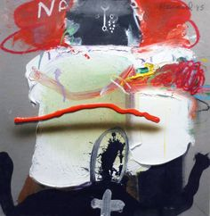 James Havard, Untitled, 1985, mixed media on paper, 16 1⁄2 x 16 inches.