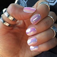 accessories, rings, jewelry, silver, silver jewelry, make-up, nails, nail polish, pink, holographic