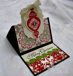 Ornament Keepsakes Easel Gift Card by cindybstampin - Cards and Paper Crafts at Splitcoaststampers