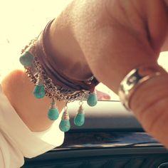 WobiSobi: Turquoise, Teardrop Bead Bracelet: DIY