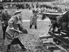 7 April 1938: Hitler turns the first sod at Walserberg, on the left Fritz Todt. Photo Credit.