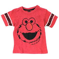 Sesame Street Elmo Boys Short Sleeve Tee T-shirt Top. Cute gift for Valentine's Day! www.YankeeToyBox.com #yankeetoybox #sesamestreet #elmo