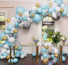 Such an amazing colour combo we created for a christening! thank you to for this amazing capture balloons by cake by