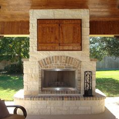 double sided fireplace http://www.paradiserestored.com/landscaping ... - Patio Ideas With Fireplace