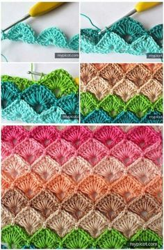 Crochet ideas that you'll love Crochet Box Stitch, Basket Weave Crochet, Crochet Motif, Free Crochet, Crochet Stitches Patterns, Crochet Designs, Knitting Patterns, Diy Crafts Crochet, Crochet Projects