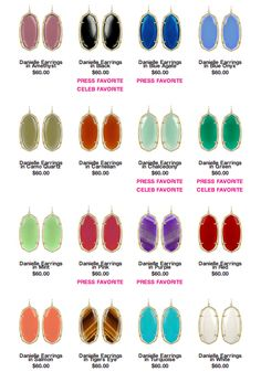 Fabulous Kendra Scott Danielle Earrings #kendrascott everytime I wear these someone calls them out by name!