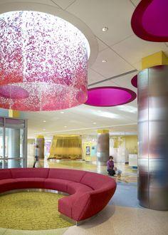 lobbies for children hospitals   Found @ worldarchitecturenews . Photos : Nick Merrick