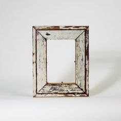 White Reclaimed Wood Picture Frame
