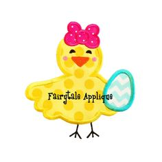 Digital Machine Embroidery Design - Easter Chick