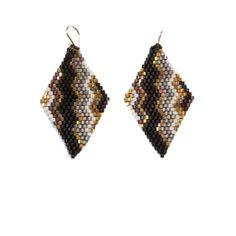 handwoven beaded earrings