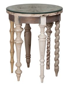 Artifacts Architectural Accent Table. The 6 different legs make this table unique!