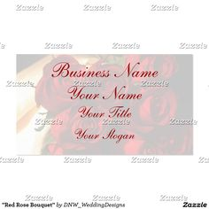 """Red Rose Bouquet"" #businesscards #rosebusinesscards #zazzleproducts #zazzle #redrosebouquet"