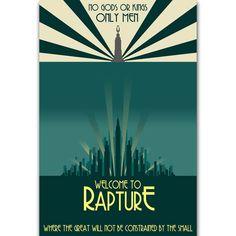 B-40 Rapture New Bioshock Hot Playing Cover Album Poster Wall Art 36x24 18x12