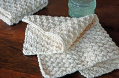 Hand Knit Washcloths are perfect for gift giving or for use in your own bathroom. A simple pattern for the novice or experienced knitter.