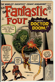 Fantastic Four #5, first app of Doctor Doom