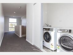 Stacked Washer Dryer, Washer And Dryer, Bedsit, Washing Machine, Home Appliances, Real Estate, Bedroom, Houses, House Appliances