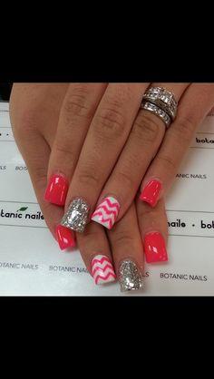 Chevron nails!(: