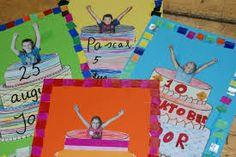 yu … - Back To School First Day Of School, Pre School, Back To School, Classroom Displays, Classroom Decor, Birthday Calendar Classroom, Birthday Photos, Birthday Cards, School Birthday