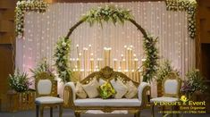 Wedding Stage is the heart of the entire ceremony. So make your wedding stage more charming with this gorgeous wedding decoration Reception Stage Decor, Wedding Backdrop Design, Desi Wedding Decor, Wedding Hall Decorations, Wedding Stage Design, Luxury Wedding Decor, Wedding Reception Backdrop, Indian Wedding Stage, Wedding Mandap