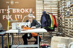 Patagonia created a programme called Worn Wear Tour workshops which they travelled across different countries giving advice on how to mend your own worn clothing.